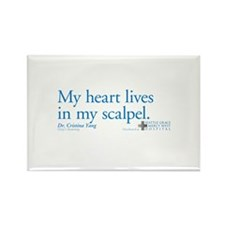 Heart Lives in My Scalpel Rectangle Magnet