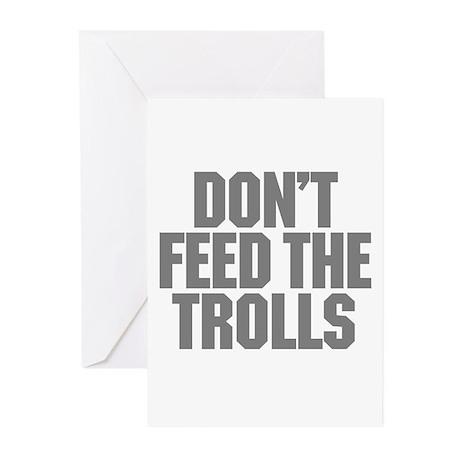 Feed Trolls Greeting Cards (Pk of 10)