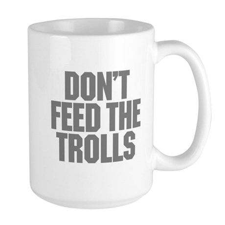 Feed Trolls Large Mug