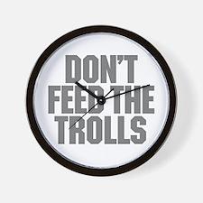 Feed Trolls Wall Clock