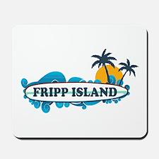 Fripp Island SC - Surf Design Mousepad