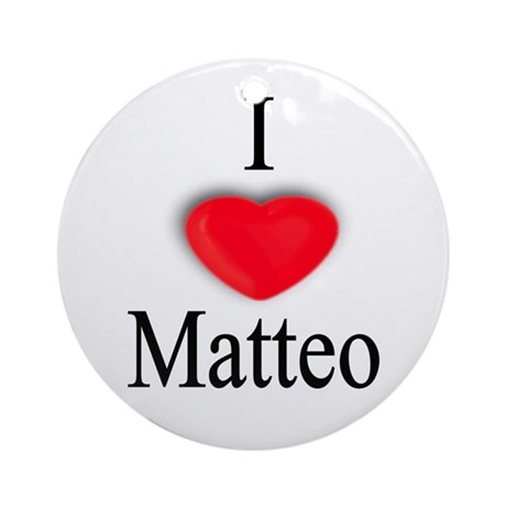 Matteo Ornament (Round)
