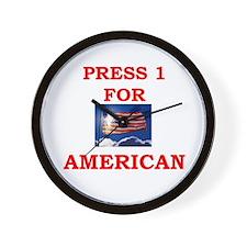 Press 1 for American Wall Clock