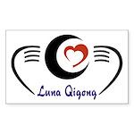 LunaQigong Logo Sticker (Rectangle 50 pk)
