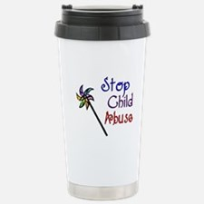 Child Abuse Awareness Stainless Steel Travel Mug