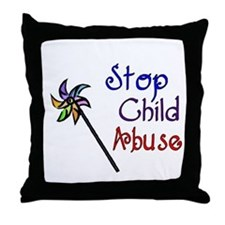 Child Abuse Awareness Throw Pillow