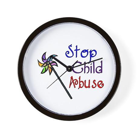 Child Abuse Awareness Wall Clock