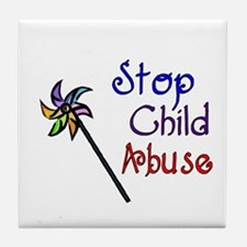 Child Abuse Awareness Tile Coaster