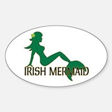 Irish Mermaid White Crop Decal