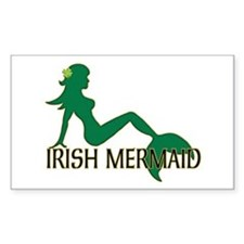 Irish Mermaid White Crop Decal