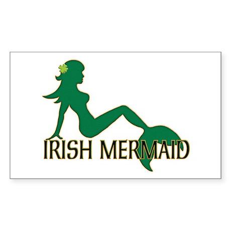 Irish Mermaid White Crop Sticker