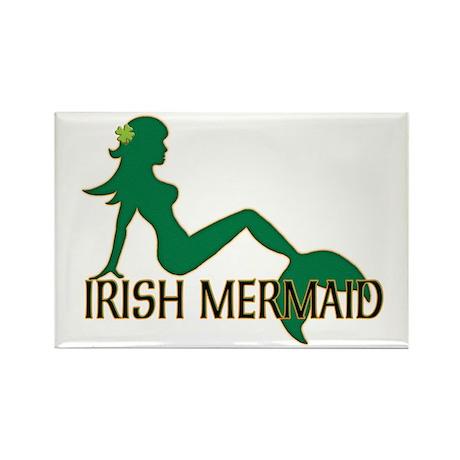 Irish Mermaid White Crop Magnets