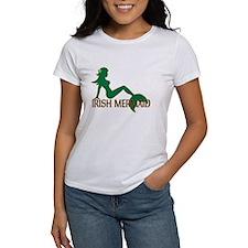Irish Mermaid White T-Shirt