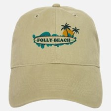 Folly Beach SC - Surf Design Baseball Baseball Cap