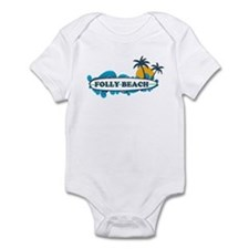 Folly Beach SC - Surf Design Infant Bodysuit