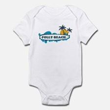 Folly Beach SC - Surf Design Infant Bodysuit