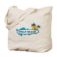 Folly Beach SC - Surf Design Tote Bag