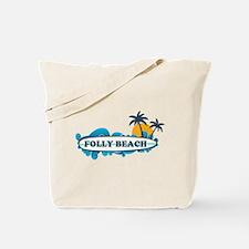Folly Beach SC - Surf Design Tote Bag