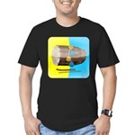 Dhol Player. Men's Fitted T-Shirt (dark)