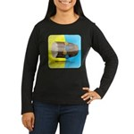 Dhol Player. Women's Long Sleeve Dark T-Shirt