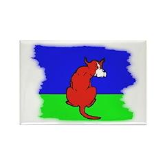 ARTISTIC CARTOON DOG Rectangle Magnet (10 pack)
