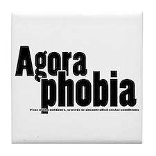 Agoraphobia Tile Coaster