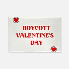 Boycott Valentines Day Rectangle Magnet