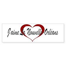 J'aime La Nouvelle-Orléans Bumper Bumper Sticker