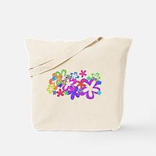 Sparkle Flower Tote Bag