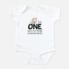 Funny I'm One Baby Bodysuit