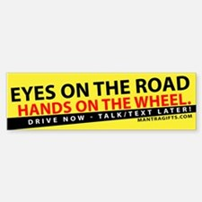 EYES ON THE ROAD Sticker (Bumper)