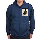 Kite Tumbler Pigeon Zip Hoodie (dark)