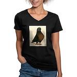 Kite Tumbler Pigeon Women's V-Neck Dark T-Shirt