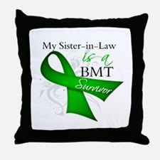 Sister-in-Law BMT Survivor Throw Pillow
