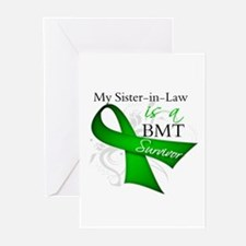 Sister-in-Law BMT Survivor Greeting Cards (Pk of 1