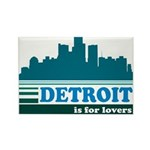 Detroit Is For Lovers Rectangle Magnet