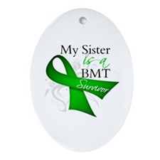 Sister BMT Survivor Ornament (Oval)
