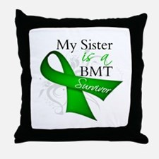 Sister BMT Survivor Throw Pillow