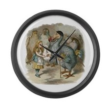 Alice and the Dodo Large Wall Clock