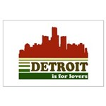 Detroit Is For Lovers Large Poster