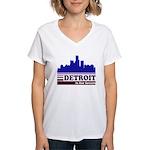 Detroit Is For Lovers Women's V-Neck T-Shirt