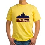 Detroit Is For Lovers Yellow T-Shirt