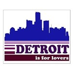 Detroit Is For Lovers Small Poster