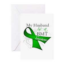 Husband BMT Survivor Greeting Cards (Pk of 10)
