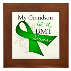 Grandson BMT Survivor Framed Tile