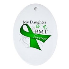 Daughter BMT Survivor Ornament (Oval)
