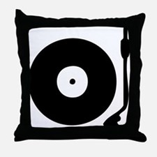Vinyl Turntable 1 Throw Pillow