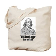 Franklin 5 Tote Bag