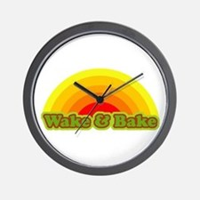 Wake & Bake Wall Clock