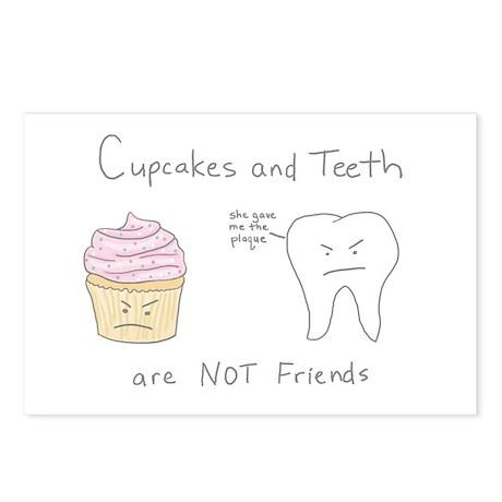 Cupcakes vs. Teeth - Postcards (Package of 8)